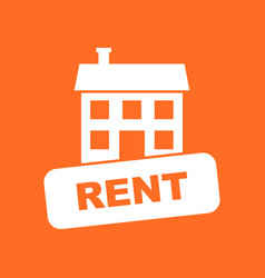 House for rent in flat style on orange background vector