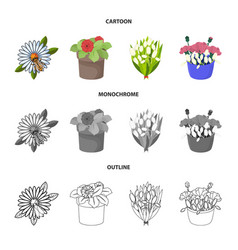 Isolated object spring and wreath icon vector