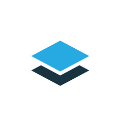 Layer colorful icon symbol premium quality vector
