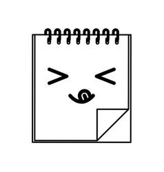 line icon diary cartoon vector image