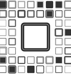 Line square logo design set vector