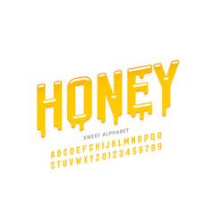 liquid sweet honey font vector image
