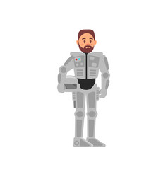man in spacesuit astronaut spaceman vector image