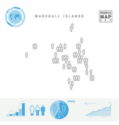 Marshall islands people icon map stylized vector