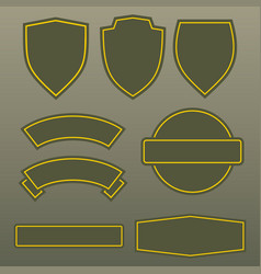 Military colors army patches template design vector