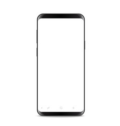 modern frameless smartphone isolated on white vector image