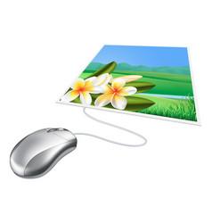 Mouse photo online internet concept vector