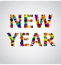 New year colors vector