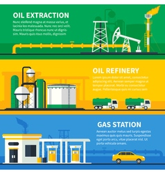 Oil Gas Banners Set vector