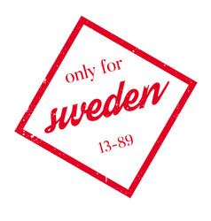 only for sweden rubber stamp vector image vector image