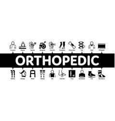 Orthopedic minimal infographic banner vector
