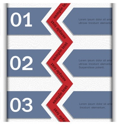 Paper banners for Infographics design vector