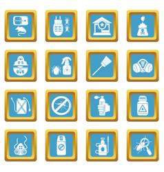 Pest control tools icons set sapphirine square vector