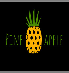 pineapple sketch for your design vector image