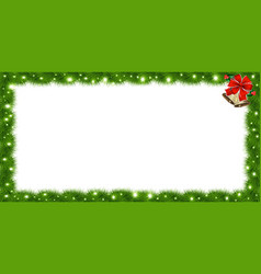 realistic fir-tree sparkling rectangle border vector image