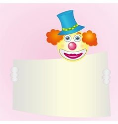 red-haired smiling clown vector image