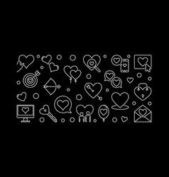 romance concept outline banner love vector image