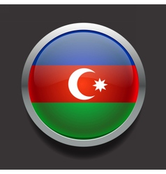 Round flag of Azerbaijan vector image