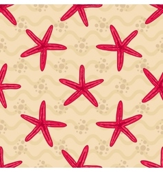 Seamless patterns with starfishs vector image