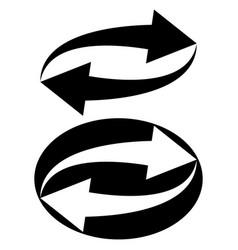 sign symbol update reload circular arrows vector image