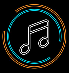 simple music thin line icon vector image