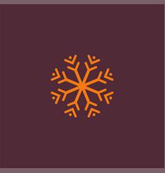 Snowflake silhouette vector