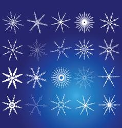 snowflake white art vector image
