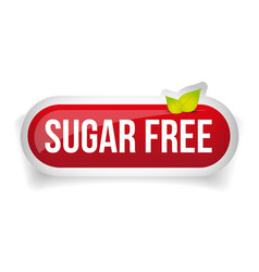 Sugar free button icon vector