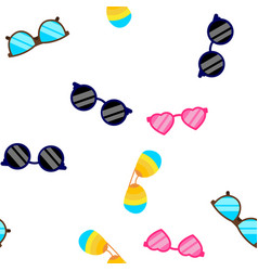 sunglasses icon seamless pattern vector image