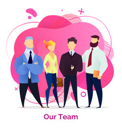team work together in office colleagues posing vector image
