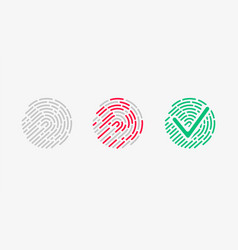 touch recognition accessed icon set vector image