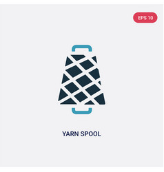 Two color yarn spool icon from woman clothing vector