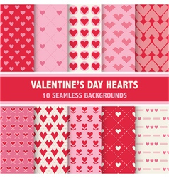 Valentines Day Heart Patterns vector