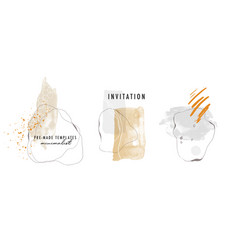 Watercolor abstract minimalist hand painted shapes vector