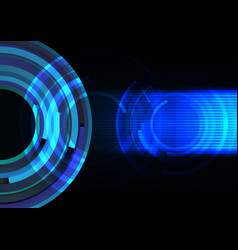 blue frequency wave with line abstract background vector image