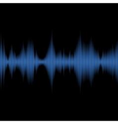 Blue Sound Waves Oscillating Equalizer on Black vector image vector image