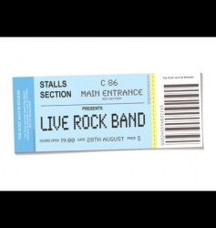 concert ticket vector image