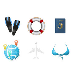 Set of summer vacation objects 2 vector