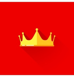 vintage of a crown in flat style with long shadow vector image vector image