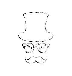hipster accessories design black dotted vector image
