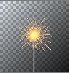 modern sparkler on transparent background vector image