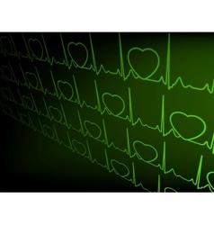 Abstract heart beats cardiogram EPS 8 vector image