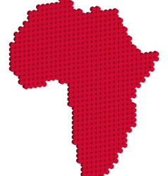 africa map 3d vector image vector image