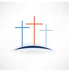 church crosses icon vector image