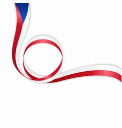 czech wavy flag background vector image