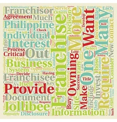 How to Buy a Franchise text background wordcloud vector image vector image