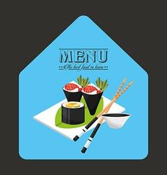 menu japanese vector image