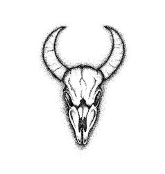 dotwork cow skull vector image