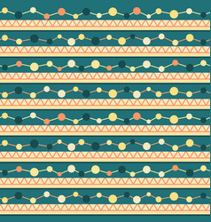 seamless pattern with lines zigzag and circles vector image vector image