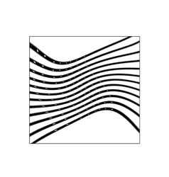 Square with black curved lines vector